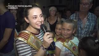 Festes Majors Camarles 2019: Pregó