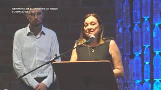Cerimònia de lliurament de títols - Fundació Gentis - Amposta