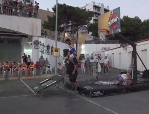 Espectacles d'acrobàcies i força al XXV Streetball a l'Ampolla