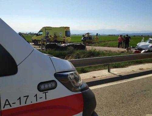 ACTUALITZACIÓ: Una dona i un menor ferits crítics en l'accident de Deltebre
