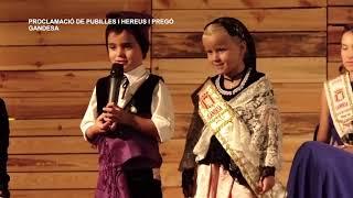Festes Majors de Gandesa: Proclamació de pubilles i hereus i pregó