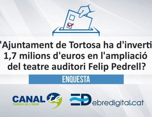 L'Ajuntament de Tortosa ha d'invertir 1,7 milions d'euros en l'ampliació del teatre auditori Felip Pedrell?