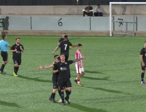 La polèmica celebració d'Antonio Domínguez, del gol de l'empat de la Canonja a Tortosa