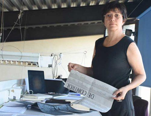 Teresa Mulet prepara a Balada la seua propera exposició que indaga sobre els mecanismes de control