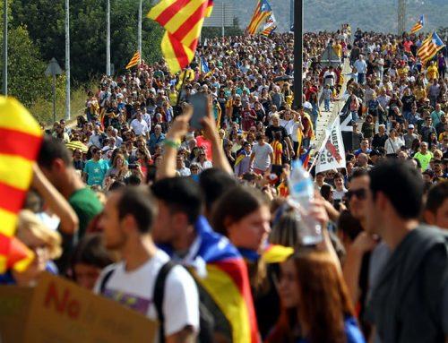 Multitudinària manifestació a Tortosa per reclamar l'amnistia dels presos polítics