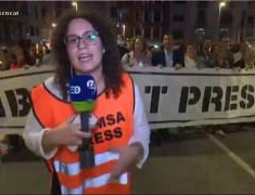Manifestacio Tortosa al Pont de l'Estat