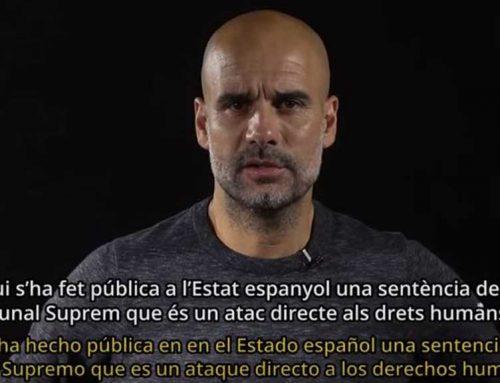 Pep Guardiola posa la cara al vídeo de Tsunami Democràtic