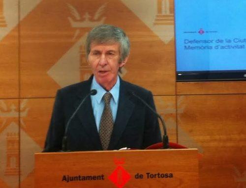 Tortosa acomiada Joaquim Ricart, primer Defensor de la Ciutadania de la capital del Baix Ebre