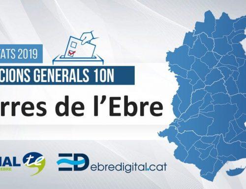 Resultats Eleccions Generals 2019 [10N]: Terres de l'Ebre