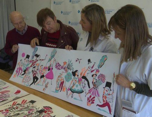 Presentació de l'esbós de la pintura del passadís de l'hospital de dia del Verge de la Cinta