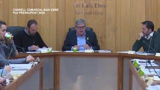 Ple Pressupostos 2020 del Consell Camarcal Baix Ebre