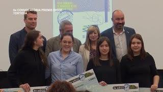 Lliurament dels guardons de la 8a convocatòria dels Premis IDECE a Tortosa