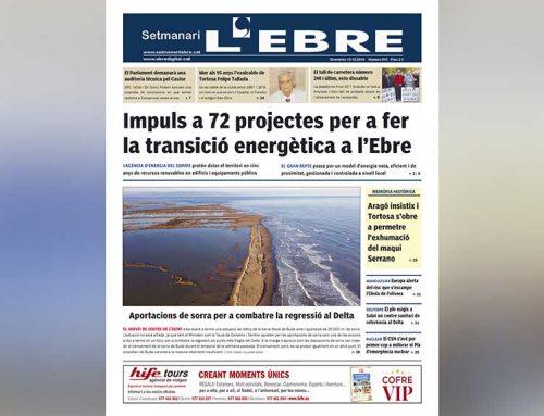La transició energètica al territori, a la portada de l'edició en paper del Setmanari l'Ebre
