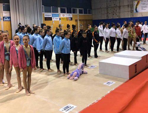 Ple absolut al pavelló de la Sénia durant la primera jornada de rítmica dels Jocs Esportius Escolars