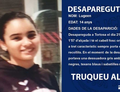 Els Mossos d'Esquadra busquen una jove de 14 anys desapareguda a Tortosa