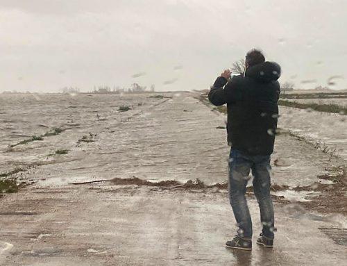El mar inunda diversos milers d'hectàrees d'arrossals al delta de l'Ebre