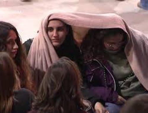 Sant Antoni 2020, encesa de la foguera a Ascó