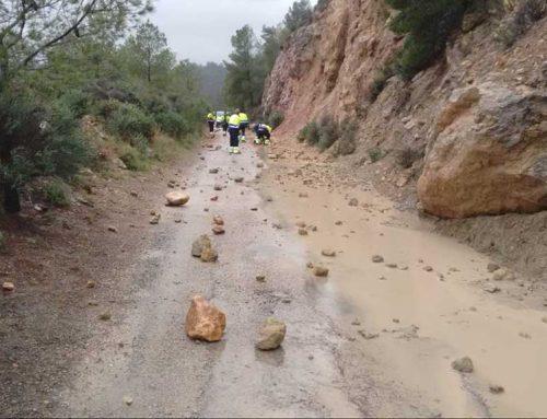 El fort temporal provoca desperfectes a la Via Verda del Baix Ebre