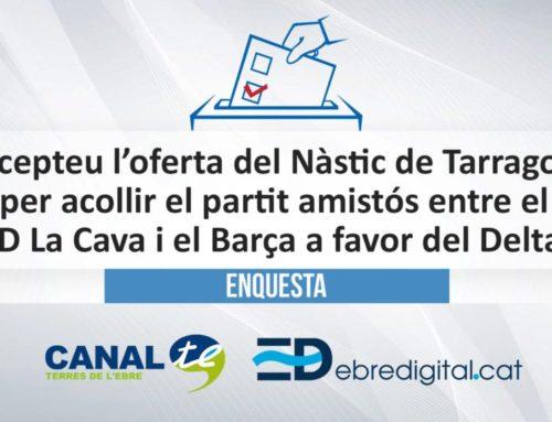 [ENQUESTA] Accepteu l'oferta del Nàstic de Tarragona per acollir el partit amistós entre el CD La Cava i el Barça a favor del Delta?