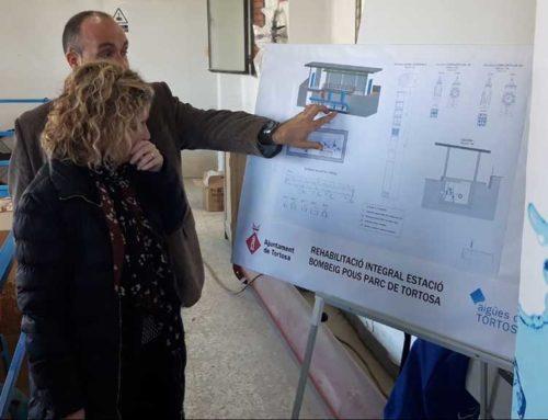 Aigües de Tortosa inicia la rehabilitació integral de l'estació de bombament d'aigua potable al parc Teodor González