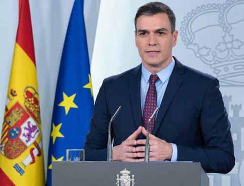Pedro Sánchez anuncia que la nova pròrroga de l'estat d'alarma aixecarà les restriccions laborals