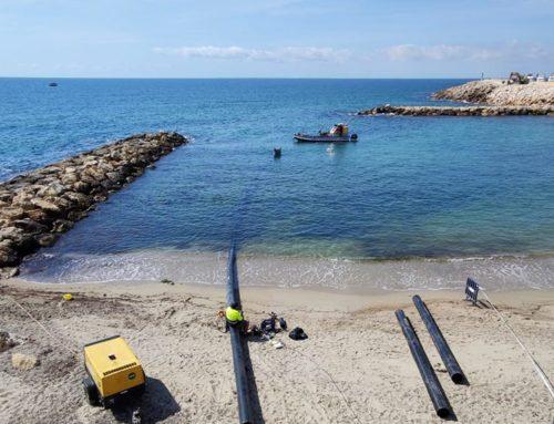 L'Ametlla de Mar inicia les obres de reparació de l'emissari submarí de la platja de l'Alguer