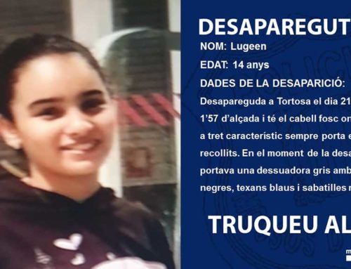 La prova d'ADN confirma que el cadàver trobat al riu Ebre a Amposta és el de la jove de 14 anys desapareguda a Tortosa