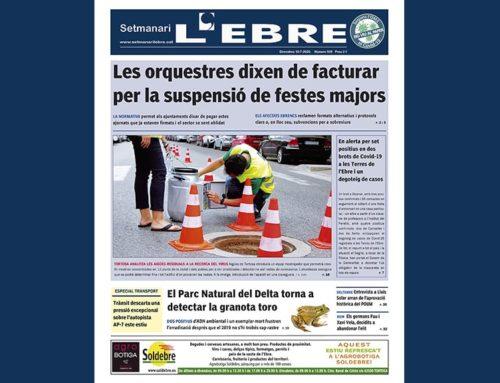 L'impacte del coronavirus al sector cultural i el degoteig de casos Covid, a la portada en paper del Setmanari L'EBRE