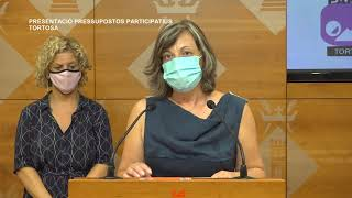 Presentació dels pressupostos participatius de Tortosa