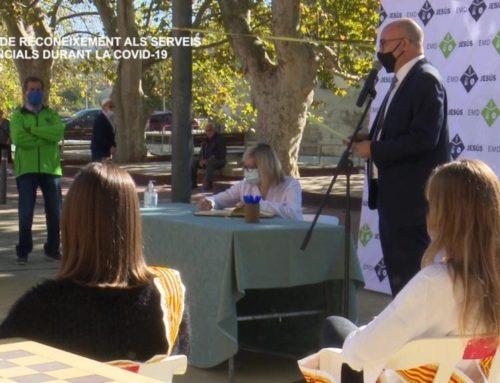 Acte de reconeixement als serveis essencials durant la COVID-19 a Jesús