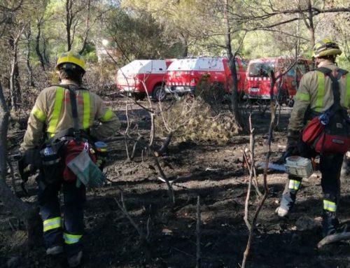 Diferents negligències en una crema de restes vegetals, causa de l'incendi que ha cremat 2,43 hectàrees de vegetació a Collredó