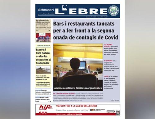 Les restriccions a tot el país i els alumnes confinats a Tortosa, a la portada de l'edició en paper del Setmanari L'EBRE