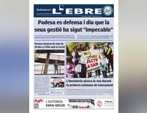 La situació Covid al territori, tema monogràfic de la portada de l'edició en paper del Setmanari L'EBRE