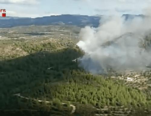 Activades una vintena de dotacions dels Bombers per un incendi forestal a Tivissa