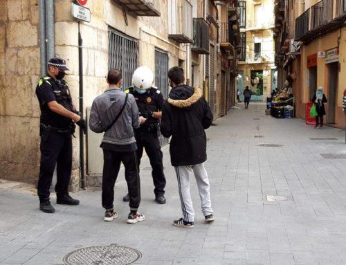 La Policia Local de Tortosa cursa 78 denúncies en dos dies per l'incompliment de les mesures en contra de la covid-19