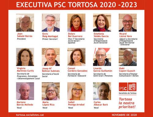 Enric Roig renova primera secretaria: 'El PSC tindrà un equip preparat pels reptes de futur a Tortosa'