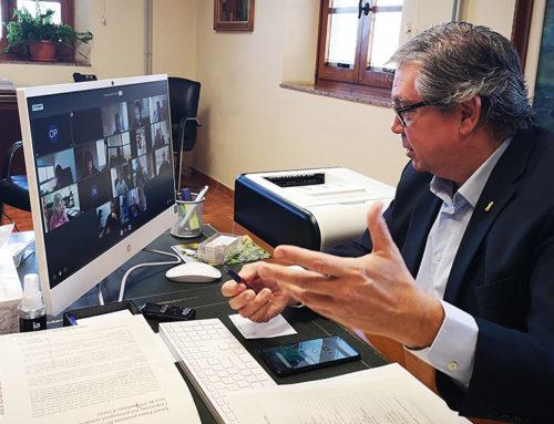 Xavier Faura presenta als alcaldes del Baix Ebre l'esborrany del pressupost comarcal 2021, que  serà de 19,7 milions d'euros