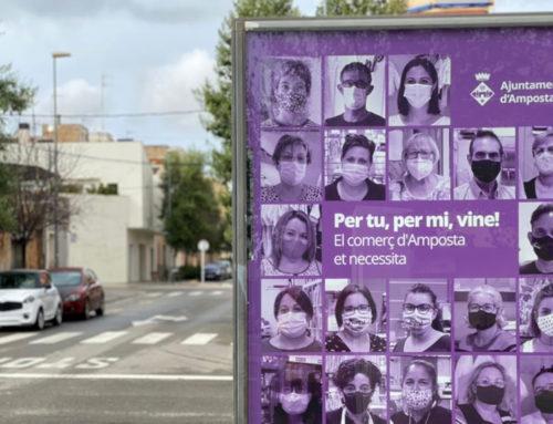 Amposta impulsa una campanya de suport al comerç, la restauració i la cultura amb l'eslògan 'Per tu, per mi, vine!'