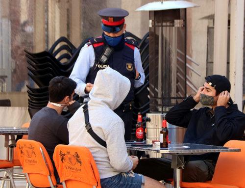 Més controls policials a bars i restaurants per vigilar el compliment de les mesures anticovid