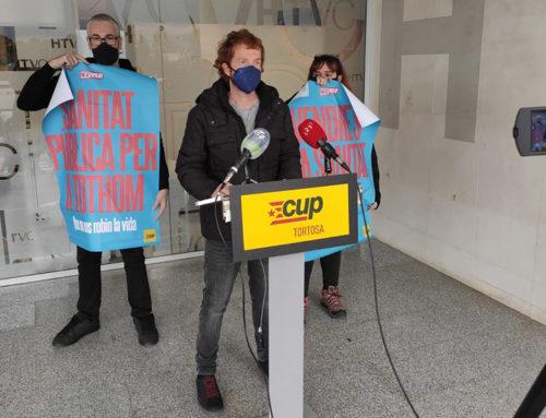 La CUP rebutja l'ampliació de l'Hospital de Tortosa Verge de la Cinta i en reclama un de nou