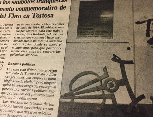 La cronologia del monument franquista: des de la voladura del pont de la Cinta fins la seva retirada final