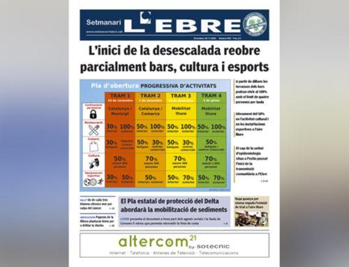 Els plans de desescalada, a la portada de l'edició en paper del Setmanari L'EBRE