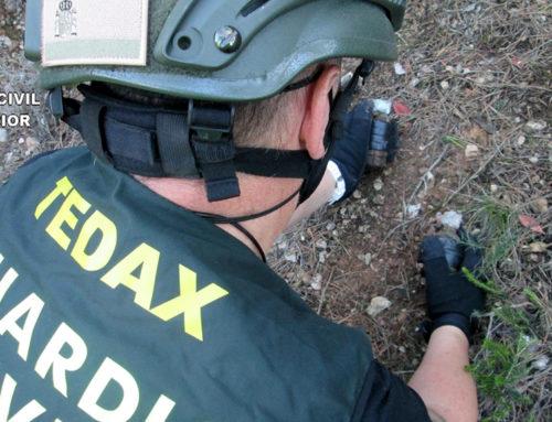 La Guàrdia Civil destrueix un projectil de morter trobat a Bítem i dues granades localitzades a Gandesa