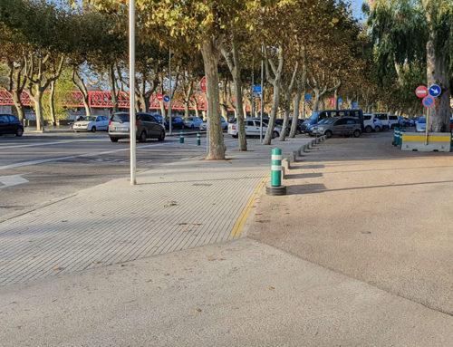 Una actuació al passeig de Moreira de Tortosa permet perllongar la vorera i renovar la il·luminació existent
