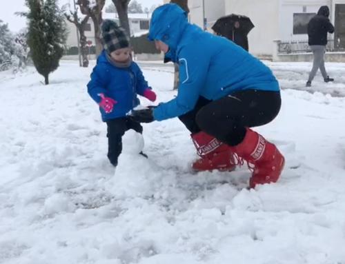 El temporal Filomena deixa importants gruixos de neu a cotes baixes de les Terres de l'Ebre