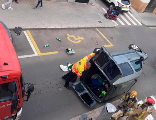 Aparatós accident al centre de La Ràpita
