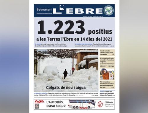 L'increment exponencial de casos covid i els efectes del temporal Filomena, a la portada de l'edició en paper del Setmanari L'EBRE