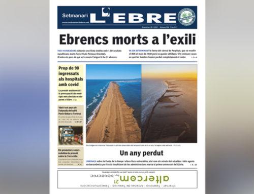 Una llista inèdita dels ebrencs morts a l'exili i l'aniversari del Glòria, a la portada de l'edició en paper del Setmanari L'Ebre