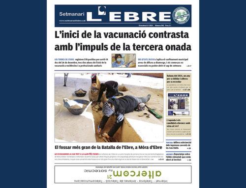 L'impuls de la tercera onada covid i el fossar de la Batalla de l'Ebre a Móra, a la portada de l'edició en paper del Setmanari L'EBRE