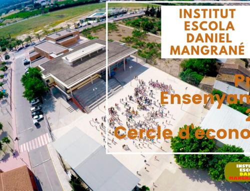L'IE Daniel Mangrané de Jesús guanya el premi Ensenyament 2020 del Cercle d'Economia